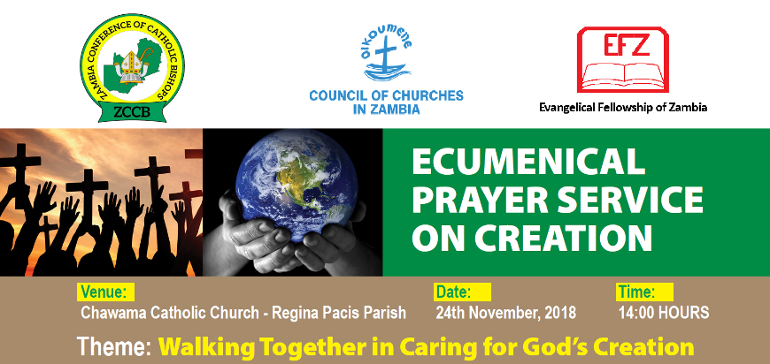 Invitation to the Ecumenical Prayer Service on care for Creation at